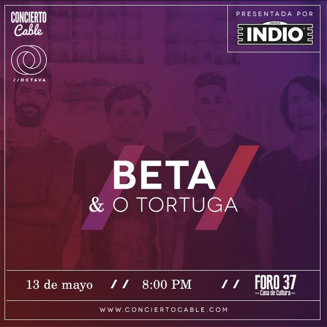 Ven a Concierto Cable con BETA y O Tortuga!